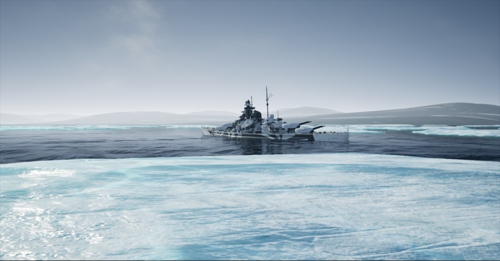 Tirpitz Spitzbergen Barentsburg September 8th 1943 0700