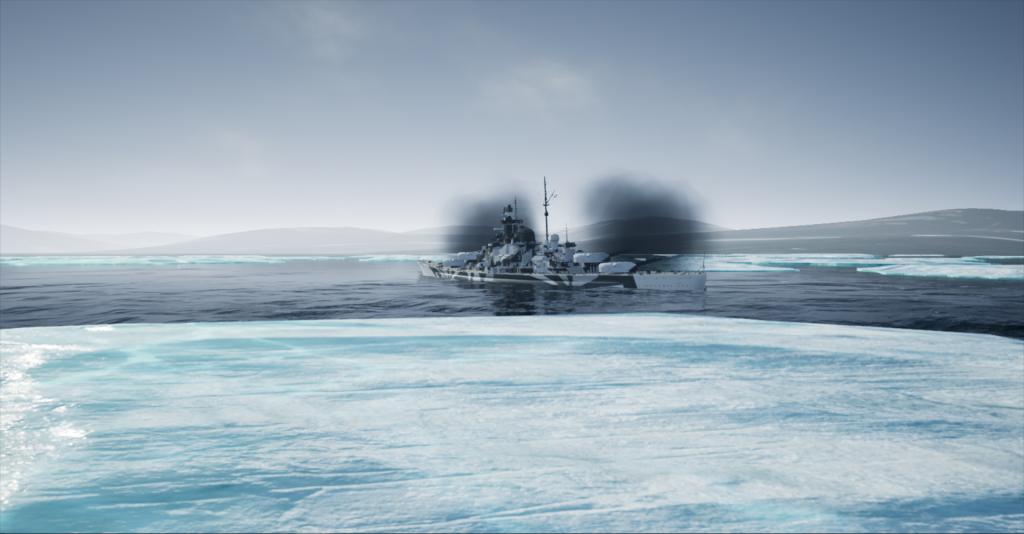 Tirpitz Spitzbergen Barentsburg Firing 19420908 0701